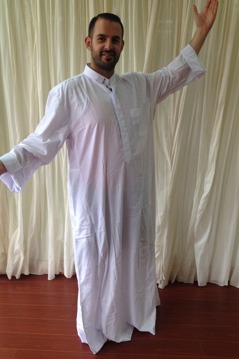 Amera's Palace Belly Dance Boutique and Dance Studio - Men's Galabeyah - white