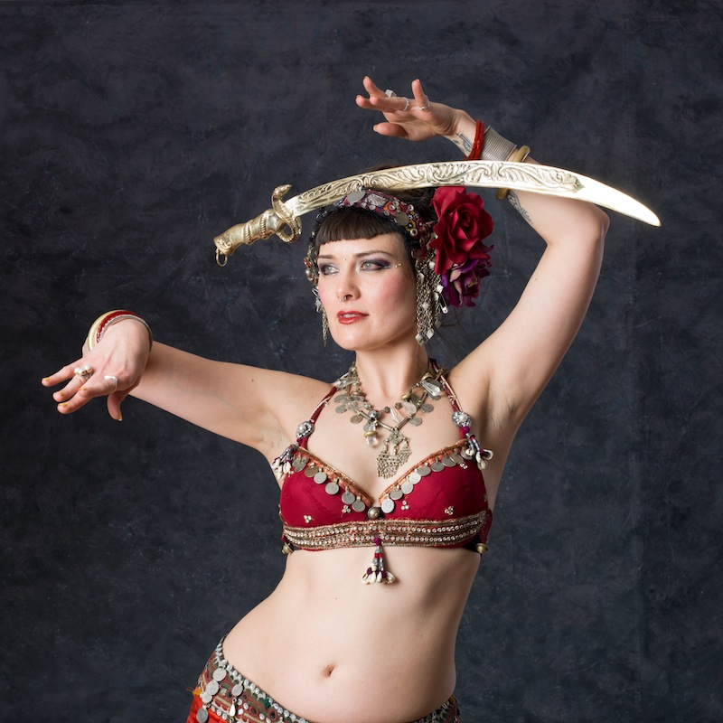 belly dance scimitar sword