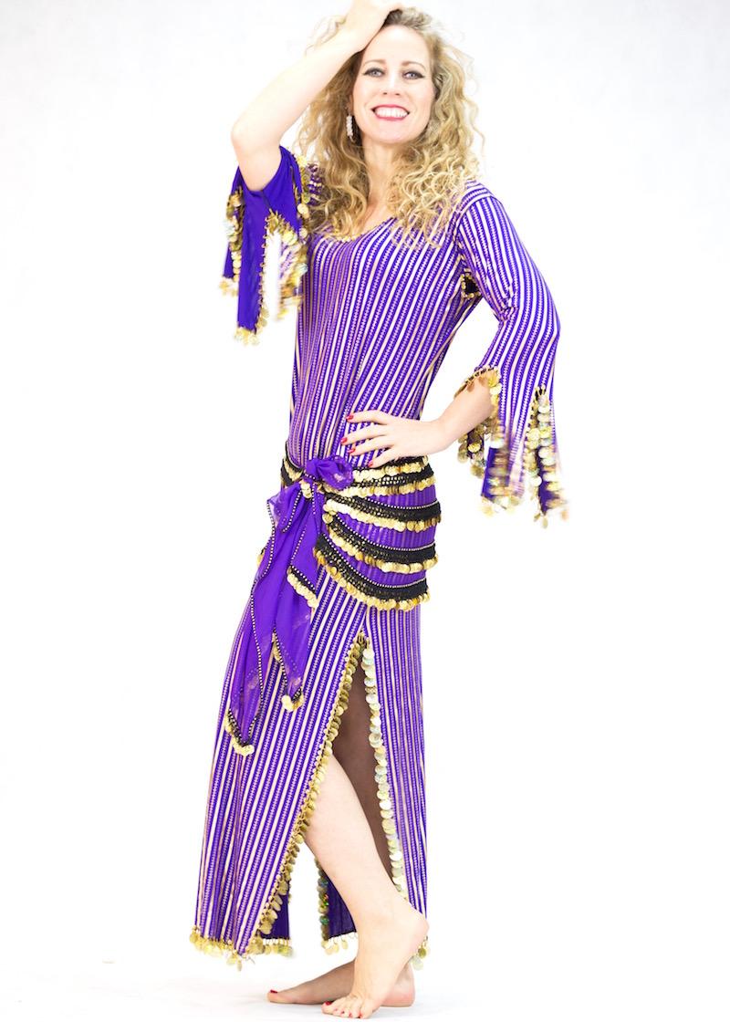 Stripey Saiidi/Baladi Dresses
