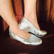 Silver Jiffy with heel