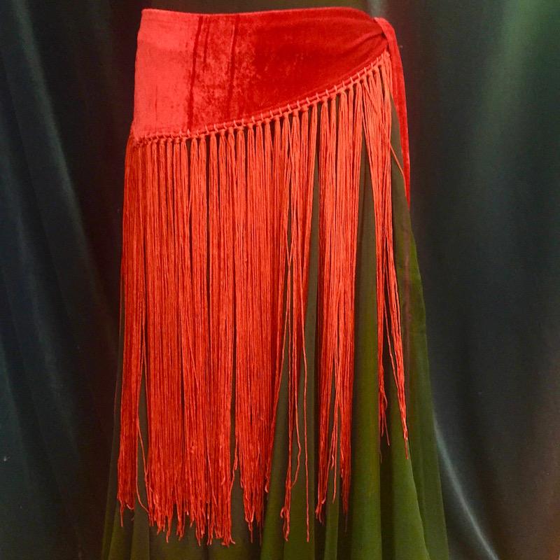 Velvet with Tassels Hip Scarves