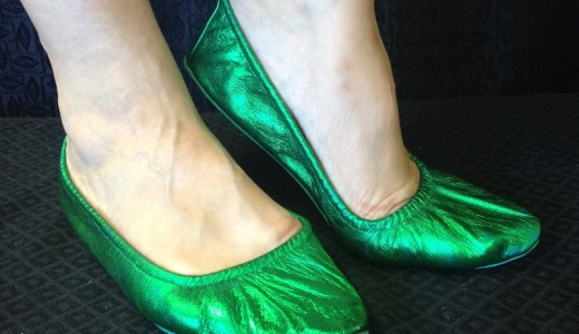 green bellydance shoes