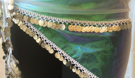 belly dance triangle hip scarf