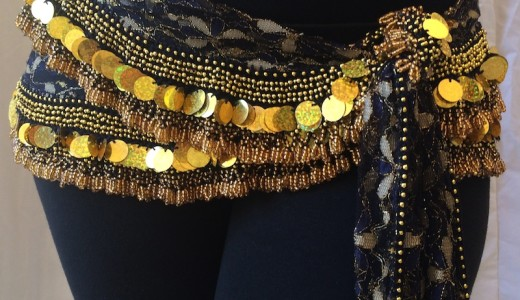 bellydancelacehipscarf