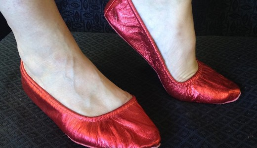 red belly dance shoes