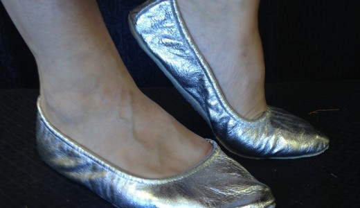 silver belly dance shoes